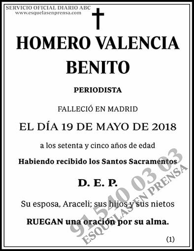 Homero Valencia Benito